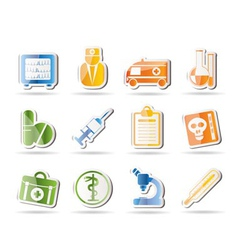 amedical and healthcare icons vector image
