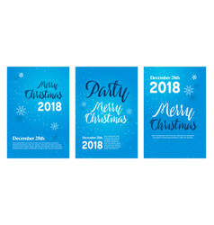 banner for a party new year cards congratulation vector image