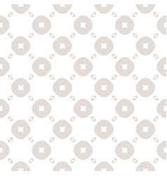 beige and white seamless pattern with circles vector image