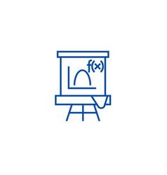 blackboardmathematics line icon concept vector image