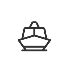 Boat front view outline style icon vector