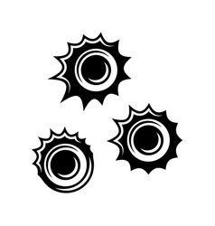 bullet holes black objects or elements vector image