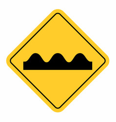 bumpy road sign vector image