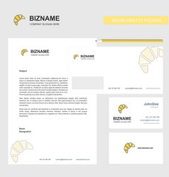 bun business letterhead envelope and visiting vector image