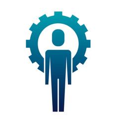 businessman work solution success gear vector image