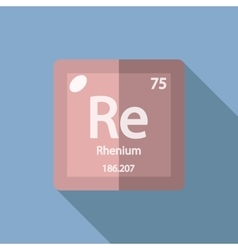 Chemical element Rhenium Flat vector image