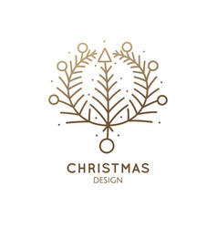 christmas abstract wearth vector image