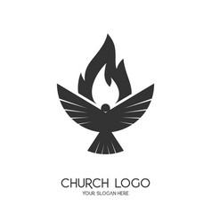 church logo christian symbols vector image