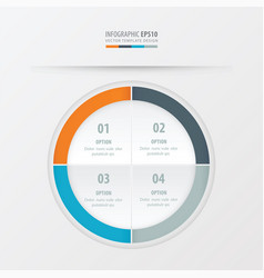 Circle presentation template orange blue gray vector
