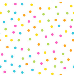 colorful seamless pattern happy funny and vector image