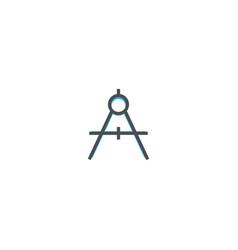 compass icon design stationery icon design vector image