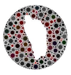 coronavirus hole round dominica island map mosaic vector image