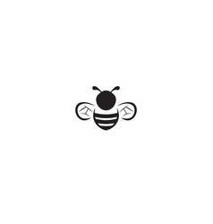 Creative black bee abstract logo vector