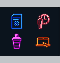delete file waiting and takeaway icons portable vector image