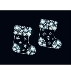 Diamond Christmas Socks vector