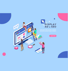 diplay campaign pay per click vector image