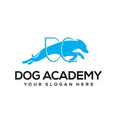 Dog academy logo design vector