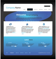 Editable website template vector