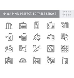 elevator pitch line icons vector image