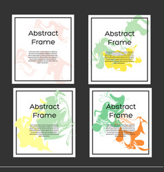 Flyer design template abstract frame with vector