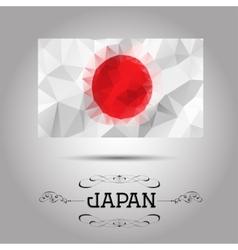 geometric polygonal Japan flag vector image