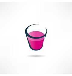 glass icon vector image vector image