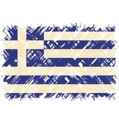 Greek grunge flag vector image
