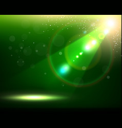 Green Spotlight Background vector image