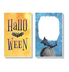 Halloween card templates2 vector