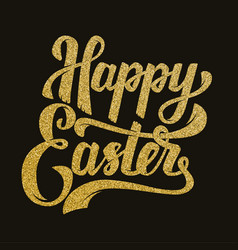 happy easter hand drawn lettering phrase in vector image