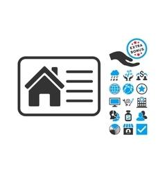 House Info Card Flat Icon With Bonus vector