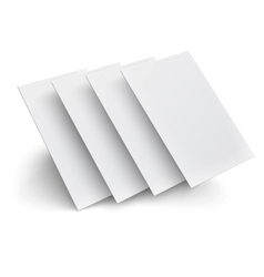 Hover blank pages on white background vector image