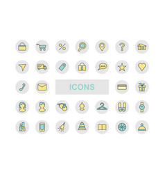 Icons for online store a set of icons vector