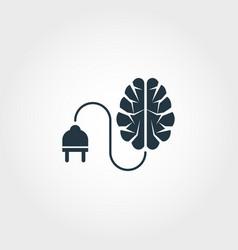 intelligent power creative icon monochrome style vector image