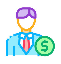 investor money icon outline vector image