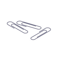 isometric paperclips vector image