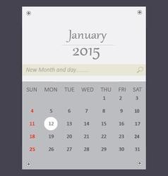 January 2015 Calendar vector image