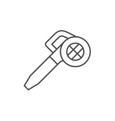 Leaf blower line outline icon vector