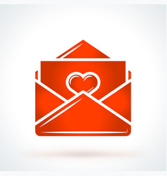 love letter st valentines day design element vector image