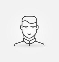 man portrait outline icon male avatar vector image