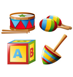 Musical instruments and toys vector
