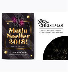mutlu noeller 2018 merry christmas in turkish vector image