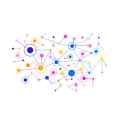 network concept connected lines and dots vector image