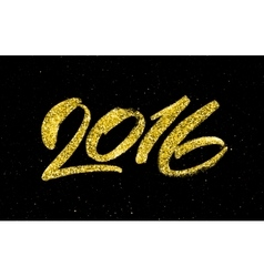 New Year 2016 gold glittering vector image