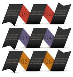 Origami black paper numbered banners vector image