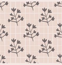Pastel seamless floral pattern botanic vector
