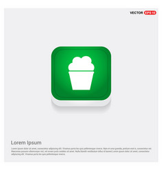 popcorn exploding inside the packaging icon vector image
