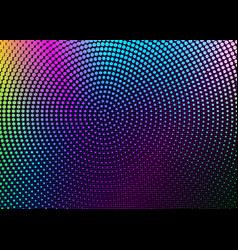 psychedelic grid and circular colorful halftones vector image