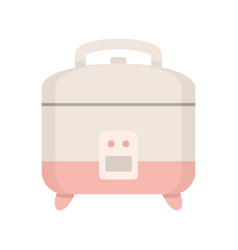 Rice cooker icon flat style vector