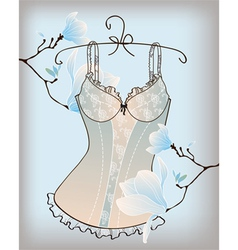 Romantic lingerie vector